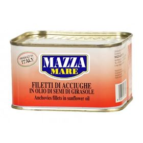 Picture of ACCIUGHE TESE IN LATTA DA 600GR IN OLIO DI GIRASOLE MAZZA